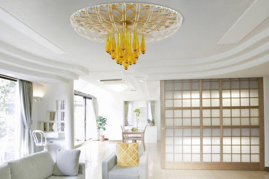 cách chọn đèn trần cho phòng khách