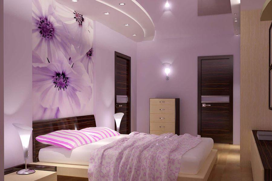 trang trí phòng cho trẻ em bằng màu tím
